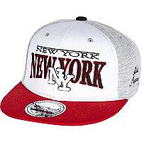 Boys white NY jersey snapback hat