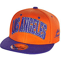 Boys orange Los Angeles snapback hat