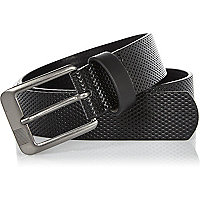 Boys black perforated belt