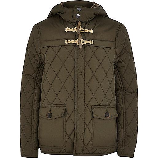 Boys khaki quilted jacket