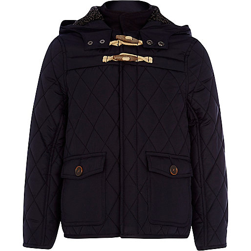 Boys navy quilted jacket