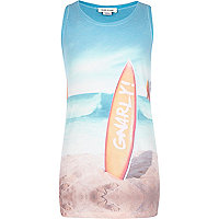 Boys blue gnarly surf print vest
