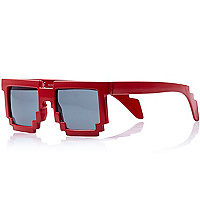 Boys red brick sunglasses