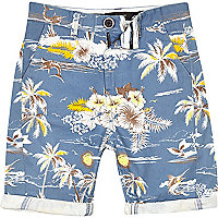 Boys blue hawaiian print shorts