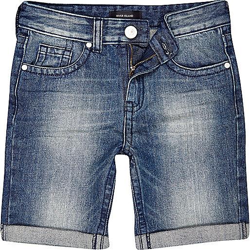 Boys medium wash denim shorts