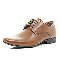 Boys brown lace up smart shoes