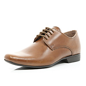 Boys brown lace up smart shoes