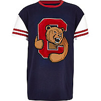 Boys navy Cornell t-shirt