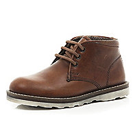 Boys brown smart boots