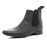 Boys black smart chelsea boots
