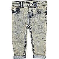 Mini boys ice denim skinny jeans