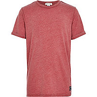 Boys red burnout t-shirt