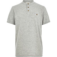 Boys grey grandad top