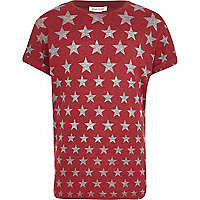 Boys red star print t-shirt