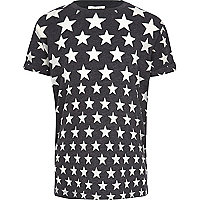 Boys grey star print t-shirt