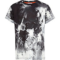 Boys black palm print t-shirt