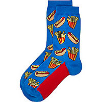 Boys blue hotdog socks