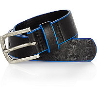 Boys black belt with blue edging