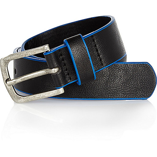 Boys black belt with blue edging