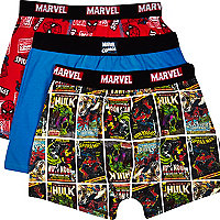 Boys red Marvel 3 pack underwear