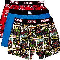 Boys red Marvel 3 pack underwear
