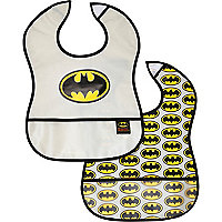 Mini boys Batman bib 2 pack