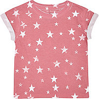 Mini boys red star print t-shirt
