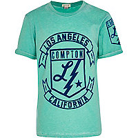 Boys blue Los Angeles print t-shirt