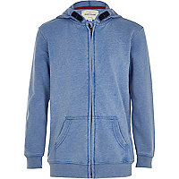 Boys blue burnout hoody