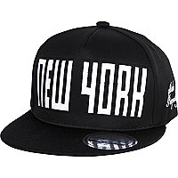 Boys black NY snapback hat