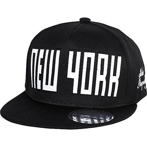 Boys black NY snapback hat
