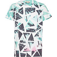 Boys white broken glass palm tree t-shirt