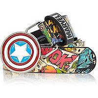 Boys red Captain America print belt