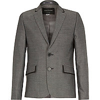 Boys grey suit blazer