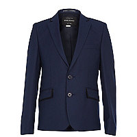 Boys navy suit blazer