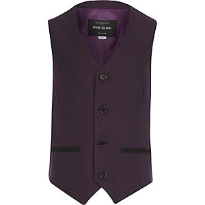 Boys purple suit waistcoat