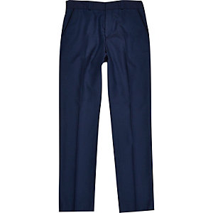 Boys navy suit trousers