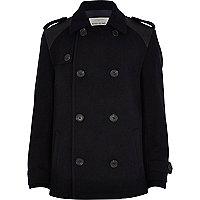 Boys navy wool pea coat
