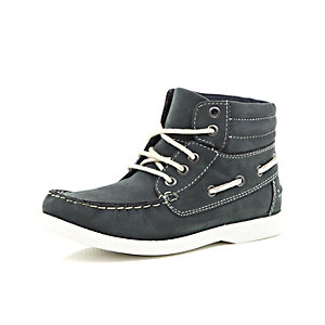 Boys navy boat boot