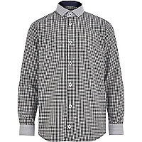 Boys black check shirt