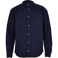 Boys navy Oxford long sleeve shirt