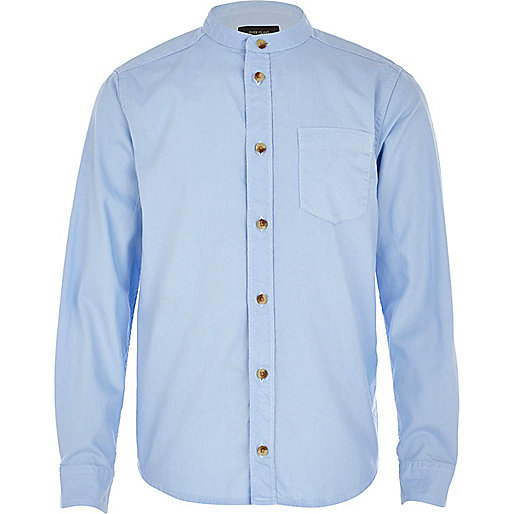 Boys light blue long sleeve oxford shirt