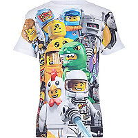 Boys white lego print t-shirt