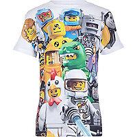 Boys white lego print t-shirt