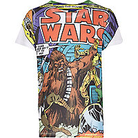 Boys white Star Wars comic print t-shirt