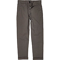 Boys grey skinny chino trousers