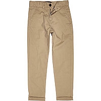 Boys tan chino trousers