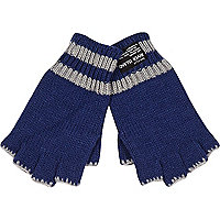 Boys blue fingerless gloves