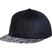 Boys navy NY snapback hat