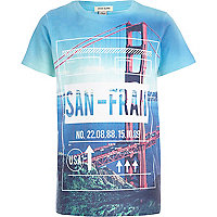 Boys blue San Francisco city print t-shirt